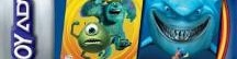 Banner 2 Games in 1 Monsters en Co Plus Finding Nemo