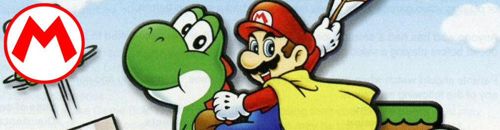 Banner Super Mario World Super Mario Advance 2