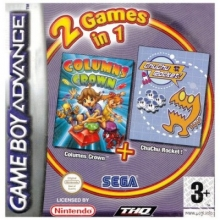 2 Games in 1 Columns Crown Plus Chuchu Rocket voor Nintendo GBA