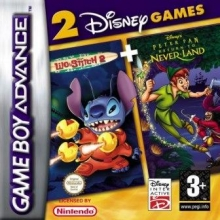 2 Games in 1 Disneys Lilo and Stitch 2 + Peter Pan Compleet voor Nintendo GBA