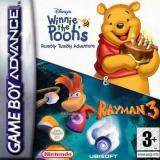 2 Games in 1 Disneys Winnie de Pooh en het Knaagje in zijn Maagje Plus Rayman 3 voor Nintendo GBA