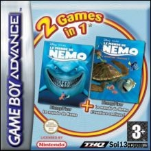 2 Games in 1 Finding Nemo + Finding Nemo The Continuing Adventures voor Nintendo GBA