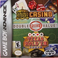 2 Games in 1 Golden Nugget Casino + Texas Hold em Poker Als Nieuw voor Nintendo GBA