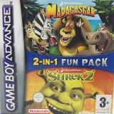 2 Games in 1 Madagascar + Shrek 2 voor Nintendo GBA