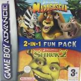 2 Games in 1 Madagascar + Shrek 2 voor Nintendo GBA
