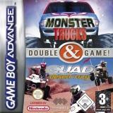 2 Games in 1: Monster Trucks + Quad Desert Fury Compleet voor Nintendo GBA