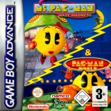2 Games in 1 Ms Pac-Man Maze Madness Plus Pac-Man World voor Nintendo GBA