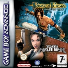 2 Games in 1: Prince of Persia The Sands of Time + Tomb Raider The Prophecy voor Nintendo GBA