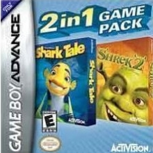 2 Games in 1 Shark Tale + Shrek 2 voor Nintendo GBA