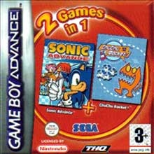 2 Games in 1 Sonic Advance + ChuChu Rocket voor Nintendo GBA