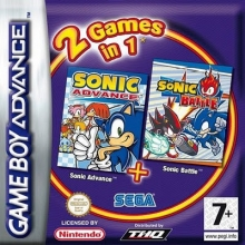 2 Games in 1 Sonic Advance + Sonic Battle voor Nintendo GBA