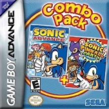 2 Games in 1 Sonic Advance Plus Sonic Pinball Party voor Nintendo GBA