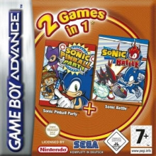 2 Games in 1 Sonic Pinball Party + Sonic Battle voor Nintendo GBA