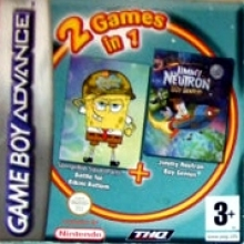 2 Games in 1 SpongeBob SquarePants Battle for Bikini Bottom + Jimmy Neutron Boy Genius Compleet voor Nintendo GBA