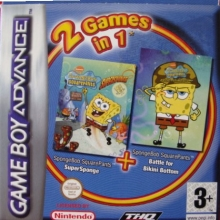 2 Games in 1 SpongeBob SquarePants SuperSponge + SpongeBob SquarePants Battle for Bikini Bottom voor Nintendo GBA
