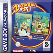2 Games in 1 SpongeBob SquarePants SuperSponge + SpongeBob SquarePants Revenge of the Flying Dutchman Lelijk Eendje voor Nintendo GBA