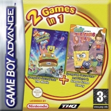2 Games in 1 SpongeBob SquarePants The Movie + SpongeBob SquarePants and Friends in Freeze Frame Franzy voor Nintendo GBA
