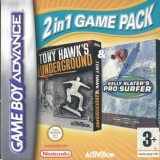 2 Games in 1 Tony Hawks Underground Plus Kelly Slaters Pro Surfer voor Nintendo GBA
