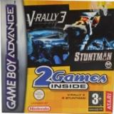 2 Games in 1 V-Rally 3 Plus Stuntman voor Nintendo GBA