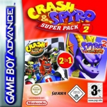Crash and Spyro Super Pack Volume 2 voor Nintendo GBA