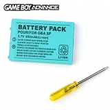 Game Boy Advance SP Battery Pack Nieuw voor Nintendo GBA