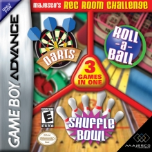 Majesco's Rec Room Challenge - 3 Games in One - Darts / Roll-a-Ball / Shuffle Bowl voor Nintendo GBA