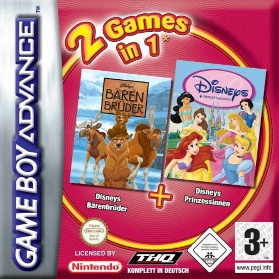 Boxshot 2 Games in 1: Disney's Brother Bear + Disney Princess