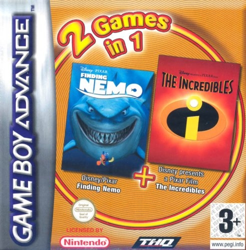 Boxshot 2 Games in 1: Finding Nemo + The Incredibles