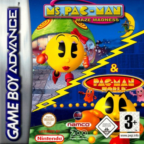 Boxshot 2 Games in 1: Ms. Pac-Man Maze Madness + Pac-Man World