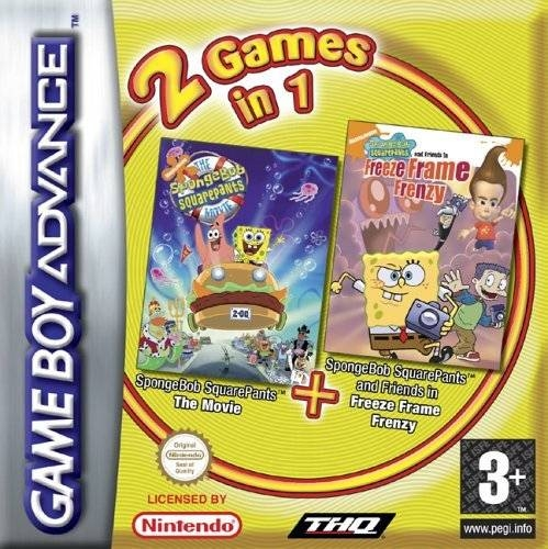 Boxshot 2 Games in 1: SpongeBob SquarePants The Movie + SpongeBob SquarePants and Friends in Freeze Frame Franzy