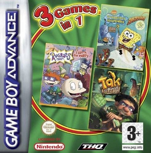 Boxshot 3 Games in 1: SpongeBob SquarePants SuperSponge + Rugrats I Gotta Go Party + Tak and the Power of Juju