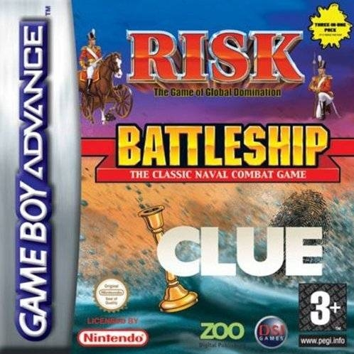 Boxshot Risk / Battleship / Clue