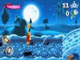 Het spel valt op door de mooie graphics en een multiplan-effect zorgt voor diepte.
