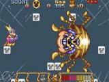 In totaal zal je zes verschillende bazen moeten verslaan, zoals deze gigantische spin.