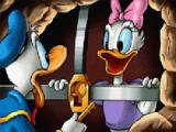 Donald Duck reist de wereld rond om Katrien te redden uit de handen van Merlock!