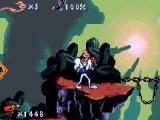 Het high-tech pak van Earthworm Jim beschermt hem tegen de gruwelijke monsters.