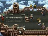 Een selectie van de vele speelbare personages met o.a. Terra, Celes, Locke en Edgar