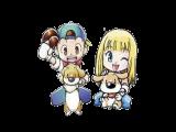 De twee speelbare characters. Het meisje is alleen te spelen in <a href = http://www.mariogba.nl/gameboy-advance-spel-info.php?t=Harvest_Moon_More_Friends_of_Mineral_Town target = _blank>More Friends of Mineral Town</a>