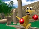 Kao de kangoeroe is een personage dat doet denken aan Spyro of Crash Bandicoot.