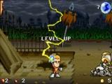 Wanneer je voldoende tegenstanders hebt verslaan zal je 'level' stijgen.