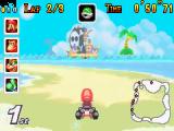 Zelfs met zand tussen de wielen gaan de karts nog bijzonder snel.