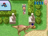 Vandaag blijf je maar beter thuis met die losgeslagen dinosaurus in het park!