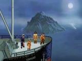 Een boot met ontdekkingsreizigers komt na een lange tocht aan op Skull Island.
