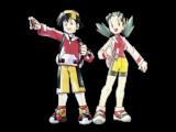 Ethan en Kris, de twee speelbare characters in Pokemon Crystal.