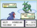 Rayquaza, de legendarische Pokémon waar het in Pokémon Emerald om draait!