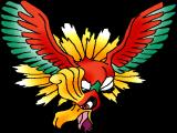Ho-Oh, de legendarische Pokémon waar dit spel om draait.