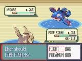Hier zie je Kyogre, dé Pokémon waar het in dit spel om draait!