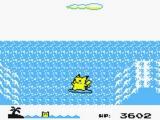 Eén van de minigames, surfen met je Pikachu.