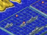 Vernietig de vijandige vloot door bommen te werpen in het spel Zeeslag.