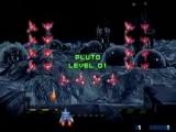 Doel van het spel: De vijandige ruimteschepen neerknallen die de aarde proberen over te nemen.